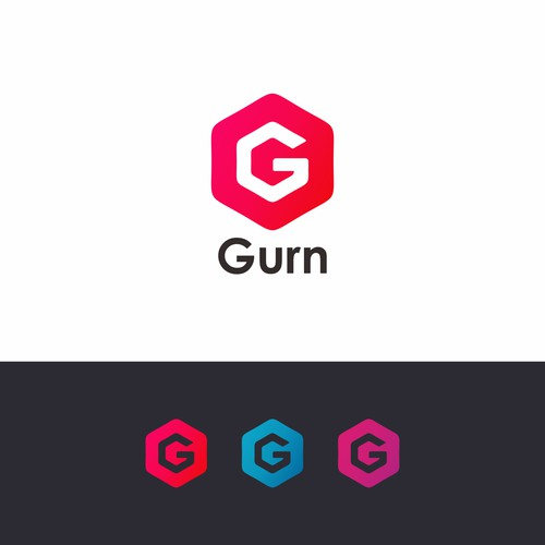 Logo for startup company named Gurn