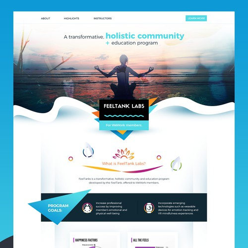 Holistic Lifestyle Landing Page (Work In Progress)