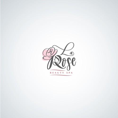 La Rose Beauty Spa Logo design