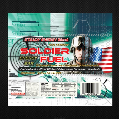 The SOLDIER FUEL™ Energy Bar needs a new wrapper design
