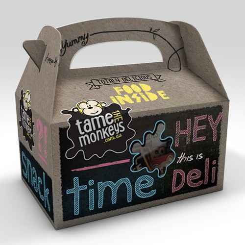 Help us design a funky, urban, cool looking kids snack and lunch pack for cafes!