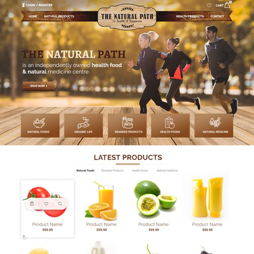 Natural Health Products Ecommerce Shop