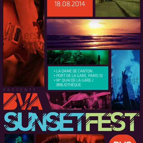 Sunset Fest flyer creation - company party