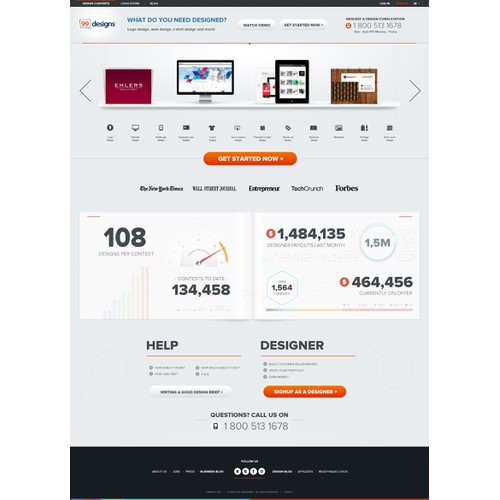 99designs Homepage Redesign Contest