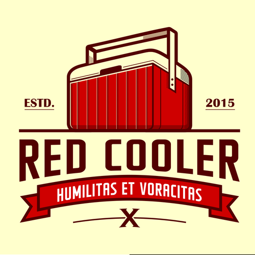 Vintage Red Cooler Logo