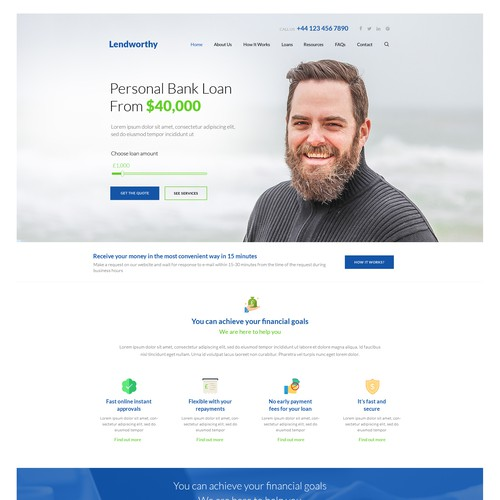 Loan Website Design