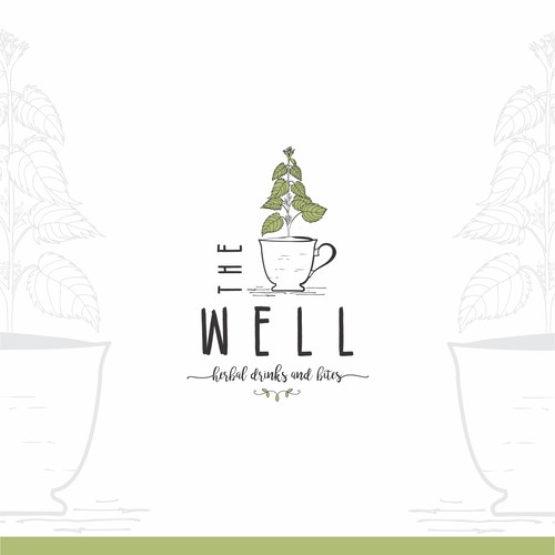 Organic illustration for an herbal cafe