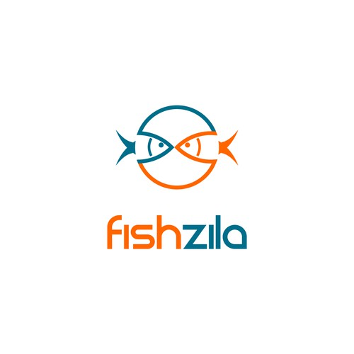 Create a recognizable logo for fishing social community website Fishzila.
