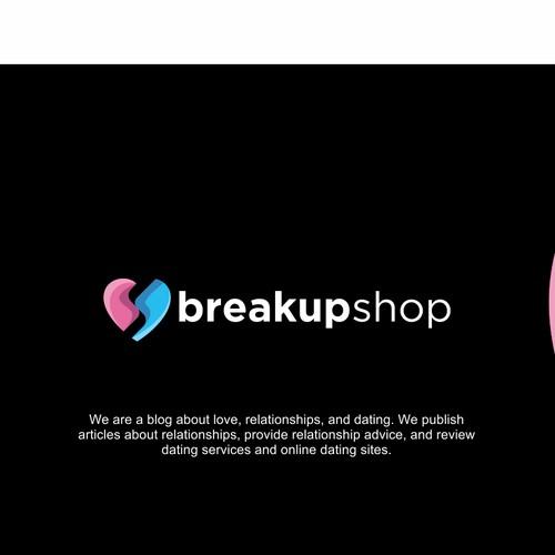 Breakup Dating Blog Logo Design