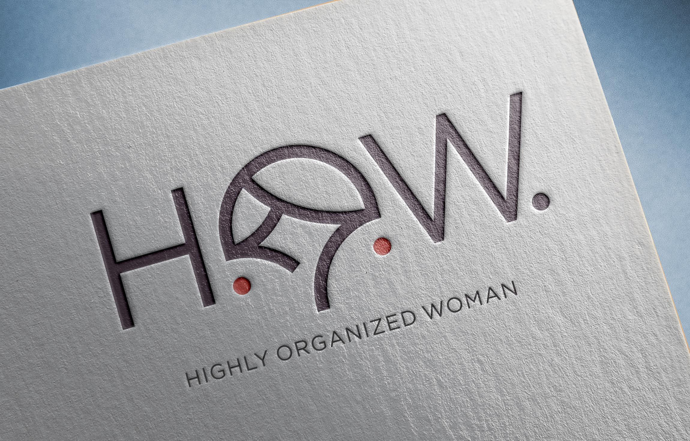 H.O.W. logo and business card design