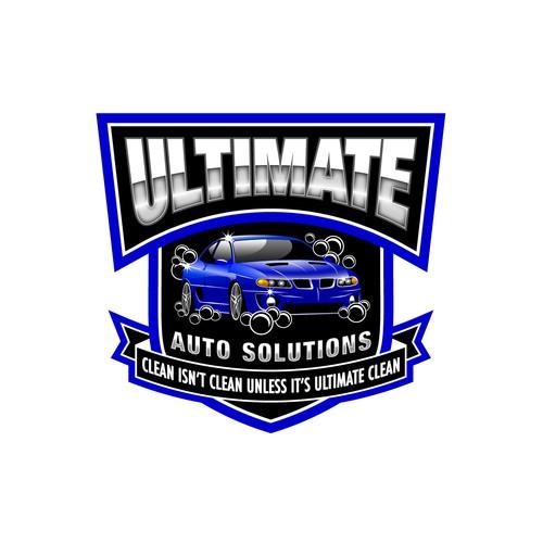 Bold retro logo for an Auto Detailing Shop