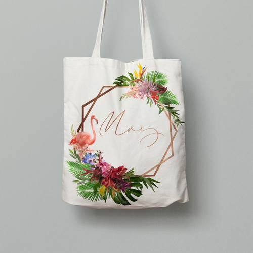 Ladies tote-bag summer design