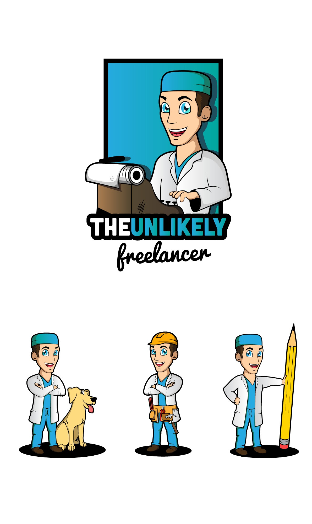 Create a logo for The Unlikely Freelancer - would love a medicine & writing motif!