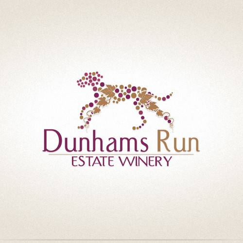 Create the next logo for Dunhams Run Estate Winery