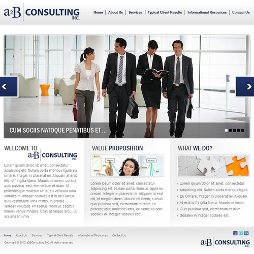 Create the next website design for A2B Consulting Inc