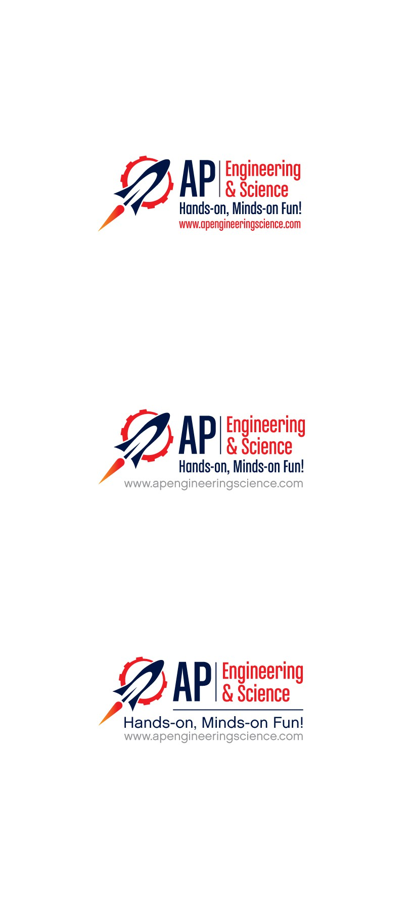 Create FUN and BOLD robotic science logo for AP Engineering and Science
