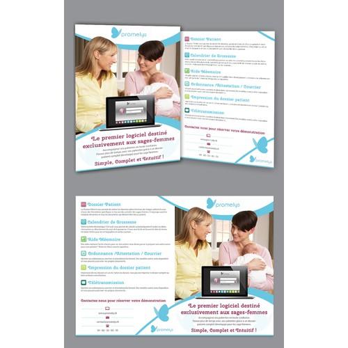 Flyers + Encart Publicitaire pour un logiciel de santé