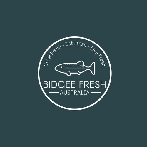 Logo concept for fish farm