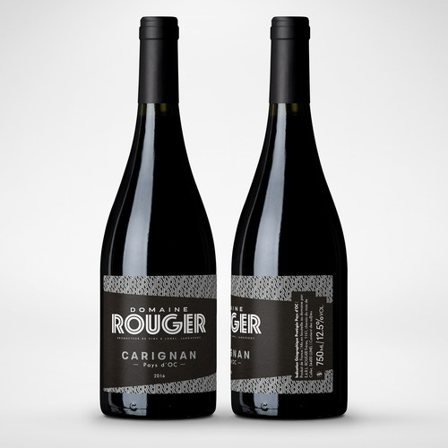 Bold & typographic wine label