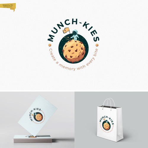 An eye catching logo for a business who create moments of sweetness through hand crafted cookies