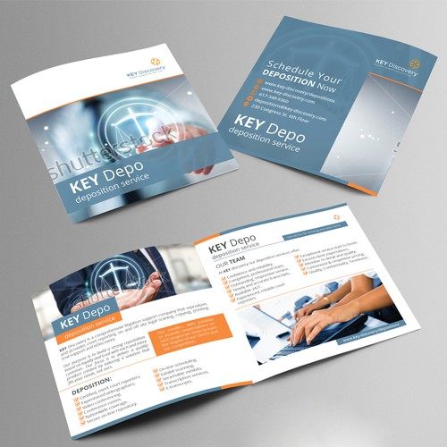 Bi fold brochure for Key Depo