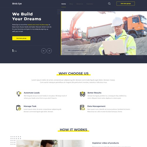 Simple and straight forward web page design