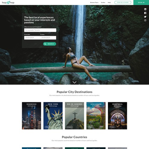 Design for travel site