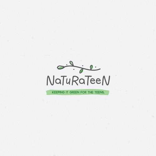 Whimsical logo design for the natural brand