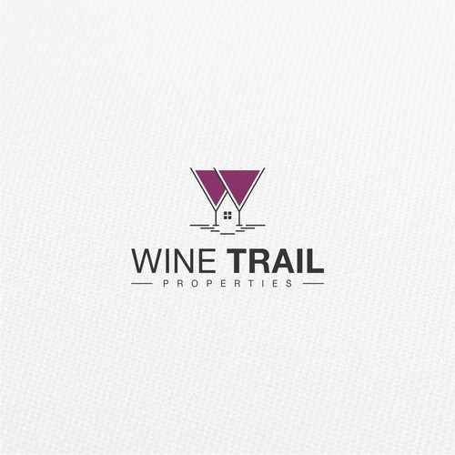 Logo design for Wine Trail Properties.