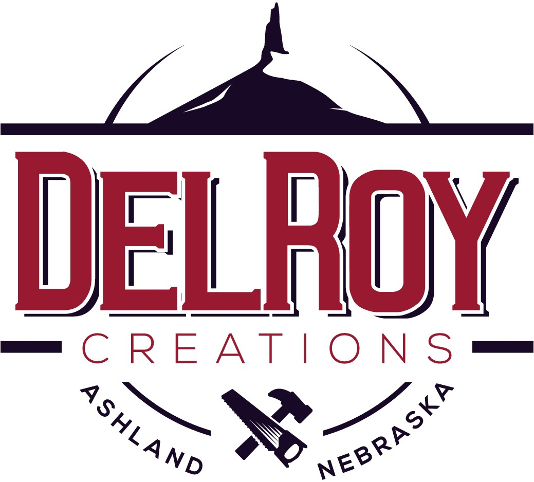 Create a rustic yet modern logo for DelRoy Creations