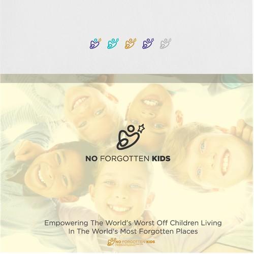 no forgotten kids logo dedsign (non-profit organization)