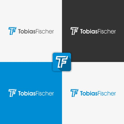 Create a clean personal branding logo for Tobias Fischer