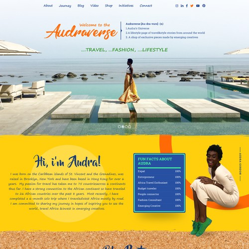 Colorful - travel, fashion, lifestyle web design
