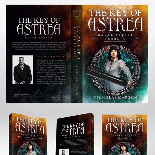 Entry for Key of Astrea Book cover contest