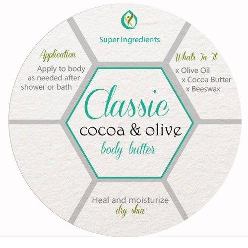 Concept for body butter label