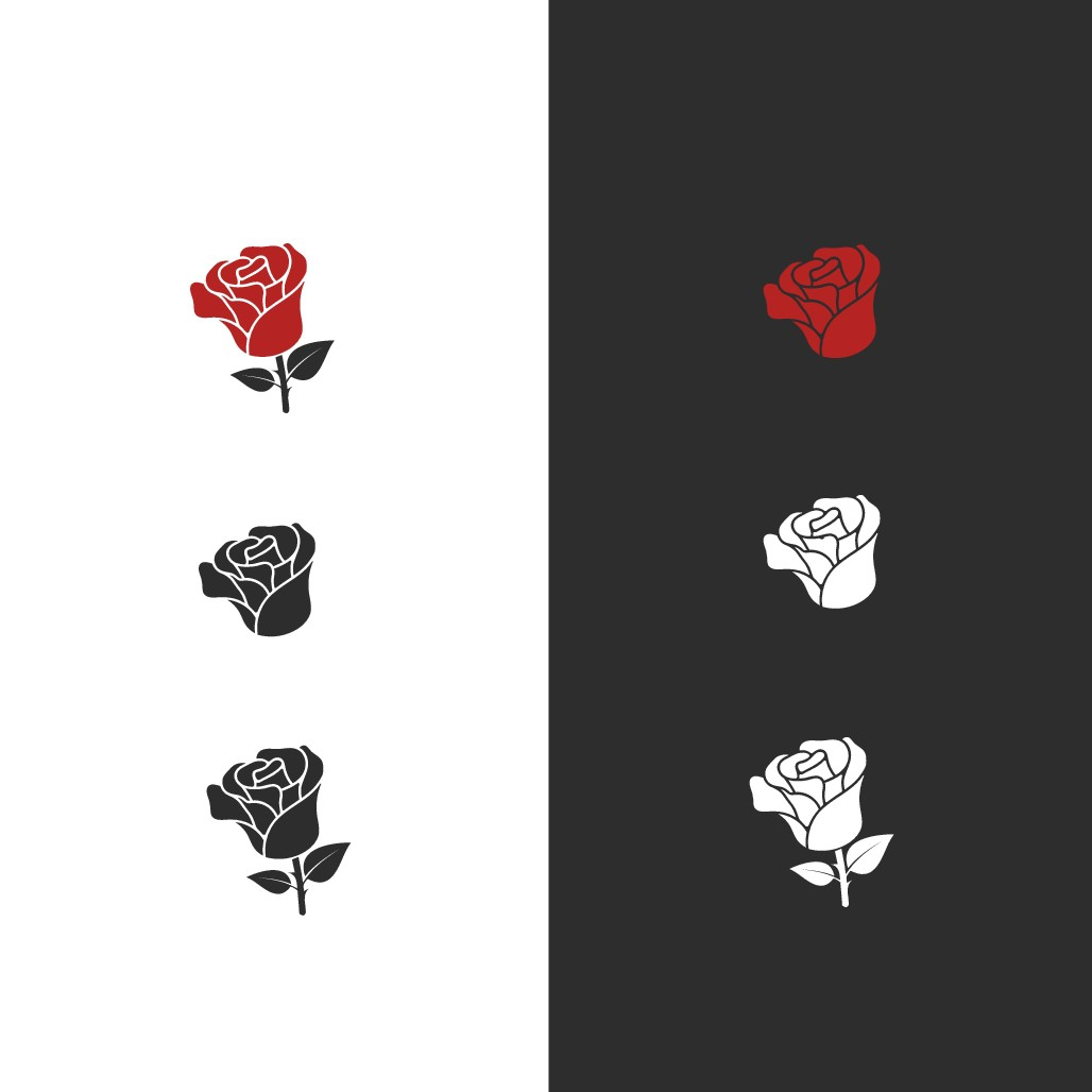 Rose logo for lifestyle media brand