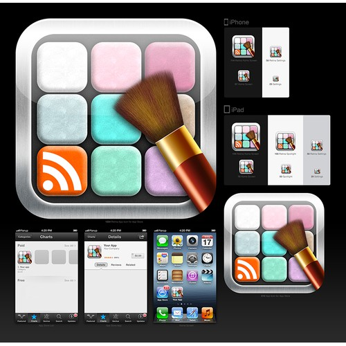 Create the next icon or button design for MakeupFeed