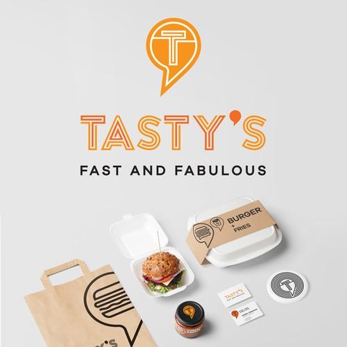 Tasty's fast food identity concept