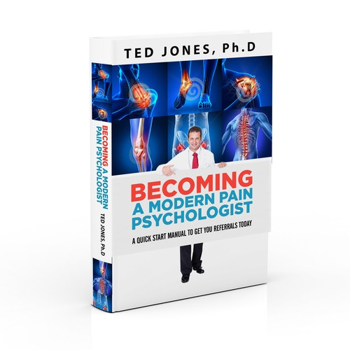 Design a book cover for a short book for pain psychologists.