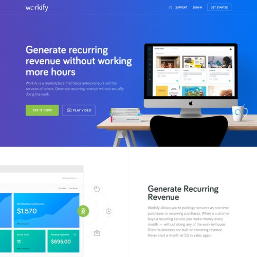 Workify Landing page