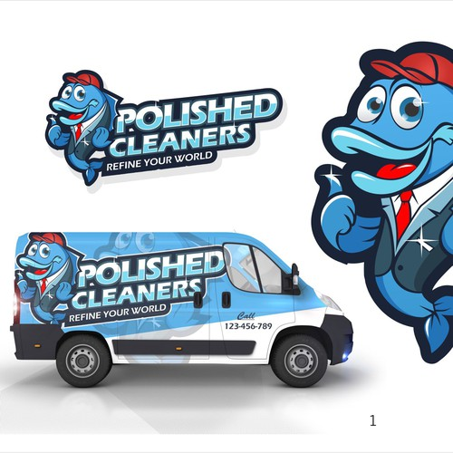 Design a simple yet bold carpet cleaning logo that is eye catching on side of a van.