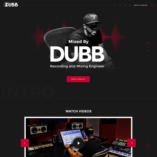 Web design for Mixed by DUBB