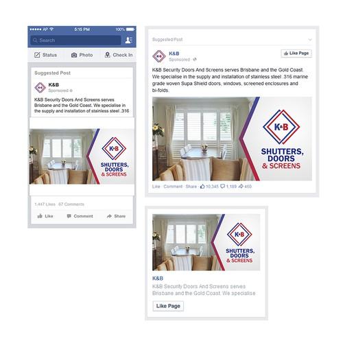 K&B Facebook Ad Design
