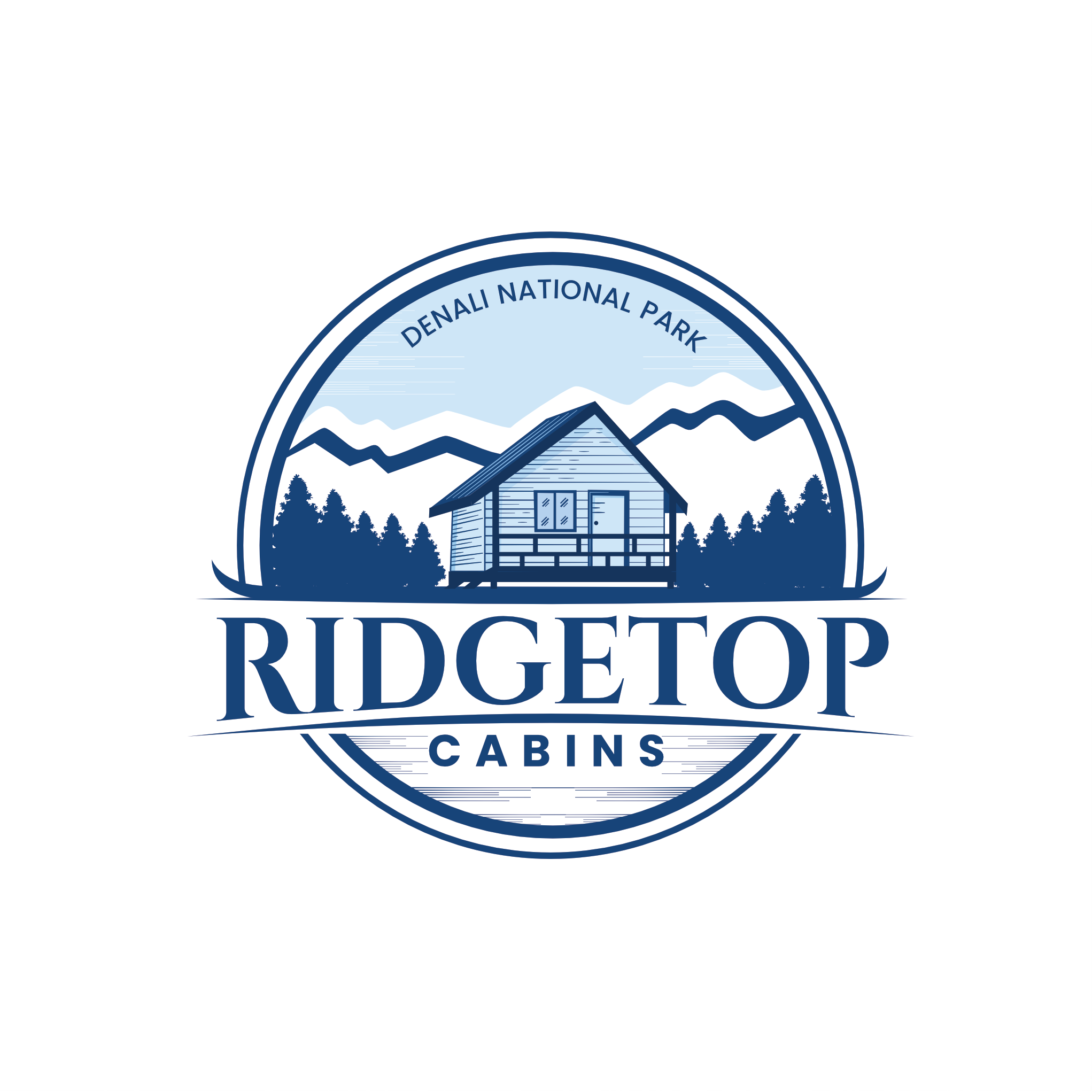 Logo for a remote ridgetop oasis on the edge of Denali National Park.