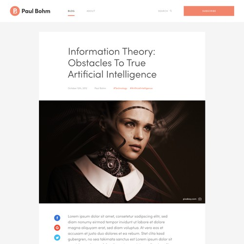 Moder Blog Design