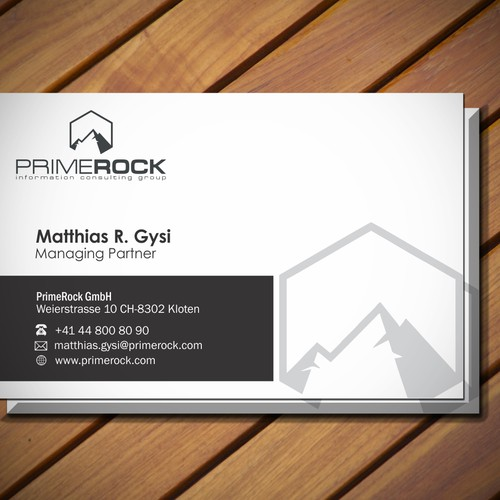 New Business Cards for PrimeRock