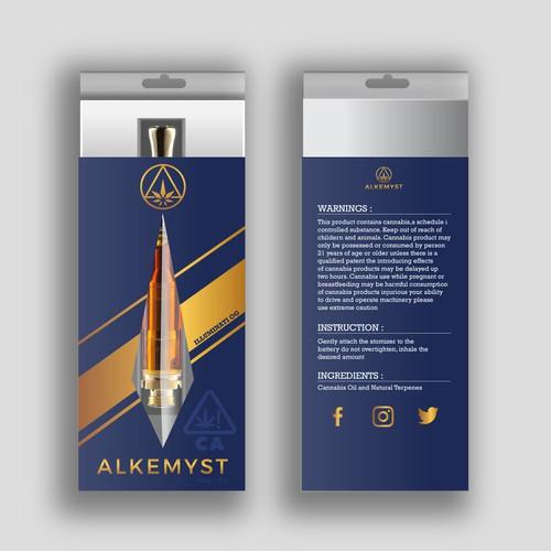 Premium minimal packaging for ALKEMYST