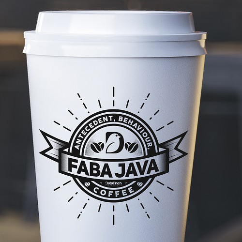 Great Lable Design Coffee Logo Cup