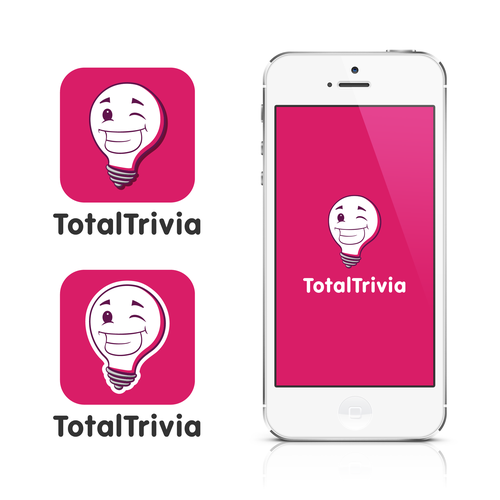 Fun and colourful logo for a mobile trivia game