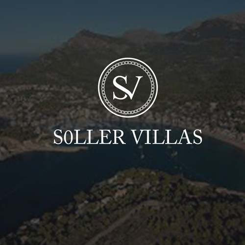 "Soller villas , combination between the letters ""s""and""v"""